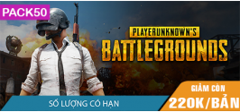 PLAYERUNKNOWN'S BATTLEGROUNDS - Pack 50 bản