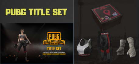 PUBG - PGI Title Set