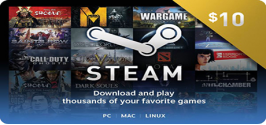 Steam Wallet Code 10$ ( 230.000 VNĐ)