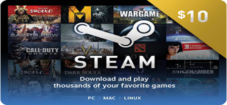 Steam Wallet Code 10$ ( 227.000 VNĐ)