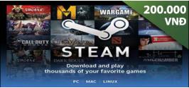 Steam Wallet Code 200,000 VND