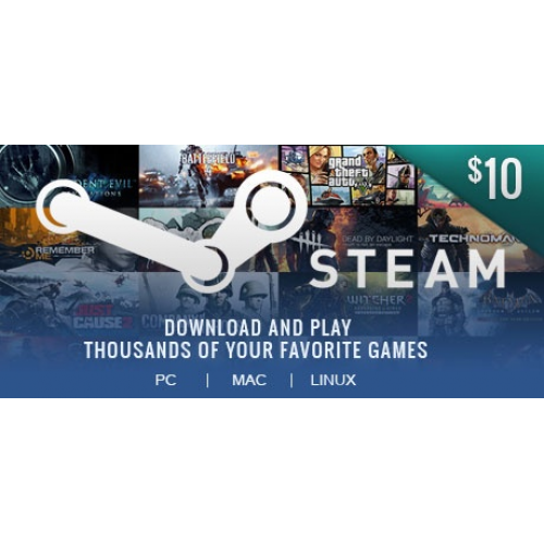 Steam Wallet Code 10$ ( 232.000 VNĐ)