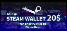 Gói nạp Steam Wallet 20$ ( Nạp chậm )