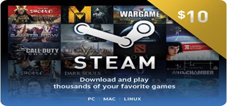 Steam Wallet Code 10$