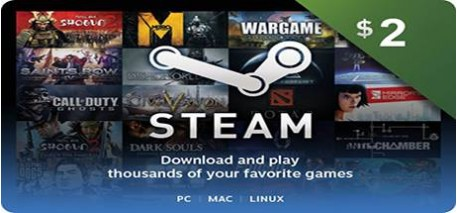 Steam Wallet Code 2$