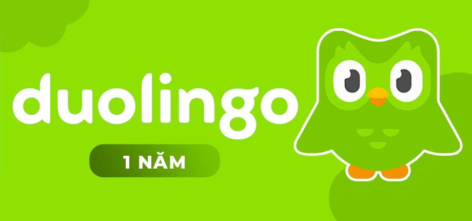 Tài khoản học ngoại ngữ Duolingo 1 năm