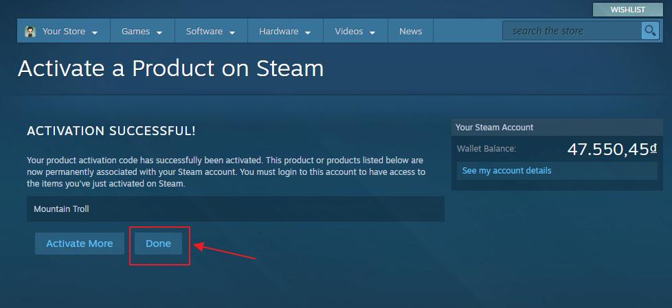 Hướng dẫn nhập code game Steam