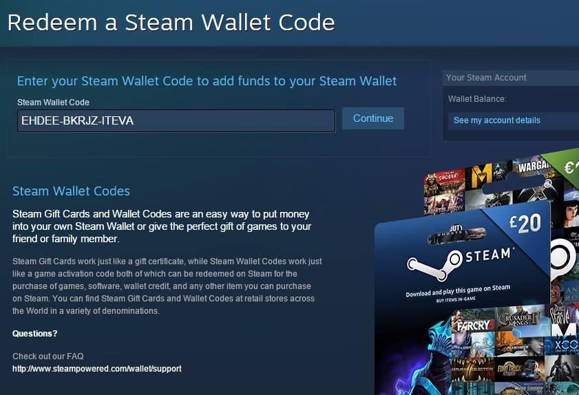 Hướng dẫn nhập Steam wallet